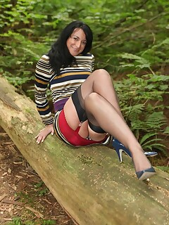 mini skirts and stockings in public